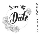 save the date   round... | Shutterstock .eps vector #1154557135