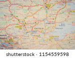 europe road atlas background | Shutterstock . vector #1154559598