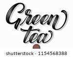 vector volumetric lettering  ... | Shutterstock .eps vector #1154568388