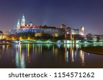 wawel castle in the evening in... | Shutterstock . vector #1154571262