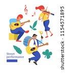 street performance. street...   Shutterstock .eps vector #1154571895