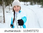 cross country skiing woman... | Shutterstock . vector #115457272