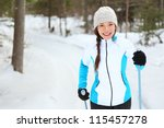 Cross Country Skiing Woman...