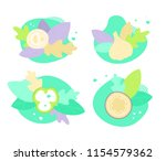 vector set of onion  cucumber...