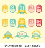 modern soft color  design label ... | Shutterstock .eps vector #115458658