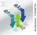 infographic isometric graph     ...