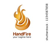 modern fire logo or icon design. | Shutterstock .eps vector #1154587858