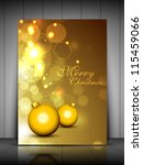 merry christmas greeting card ... | Shutterstock .eps vector #115459066
