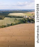 Aerial  Stubble Field With...