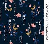 trendy blowing garden flowers...   Shutterstock .eps vector #1154598265