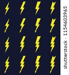 thunder and bolt lighting flash ... | Shutterstock .eps vector #1154603965