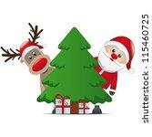 reindeer santa claus christmas... | Shutterstock .eps vector #115460725