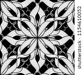intricate damask black and... | Shutterstock .eps vector #1154610052