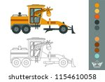 coloring book with a contour... | Shutterstock .eps vector #1154610058