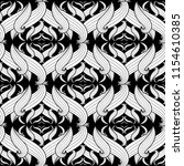 intricate abstract black and... | Shutterstock .eps vector #1154610385