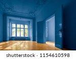 empty room in old apartment... | Shutterstock . vector #1154610598
