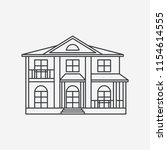 house line style icon. black...   Shutterstock .eps vector #1154614555