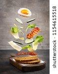 flying ingredients for... | Shutterstock . vector #1154615518
