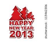 new year 2013  christmas tree | Shutterstock .eps vector #115462306