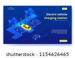 electric vehicle charging... | Shutterstock .eps vector #1154626465