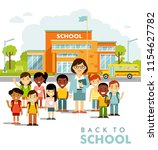 school building and school... | Shutterstock .eps vector #1154627782