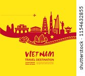 amazing vietnam travel vector | Shutterstock .eps vector #1154632855