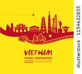 amazing vietnam travel vector | Shutterstock .eps vector #1154632855