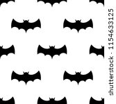 seamless pattern with bats.... | Shutterstock .eps vector #1154633125
