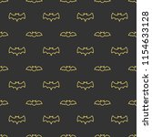 seamless pattern with bats.... | Shutterstock .eps vector #1154633128