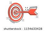 vector cartoon target aim icon... | Shutterstock .eps vector #1154633428