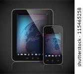 realistic vector tablet... | Shutterstock .eps vector #115465258