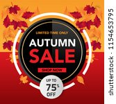 autumn sale banner template... | Shutterstock .eps vector #1154653795