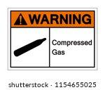warning compressed gas symbol... | Shutterstock .eps vector #1154655025