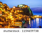 the city of scilla in the... | Shutterstock . vector #1154659738