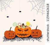 pumpkin full of candy | Shutterstock .eps vector #1154662618