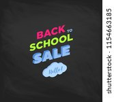 welcome back to school label on ... | Shutterstock .eps vector #1154663185