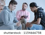 mediation between two rebel... | Shutterstock . vector #1154666758