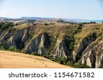 panoramic view of olive groves... | Shutterstock . vector #1154671582