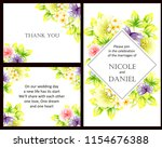 romantic wedding invitation... | Shutterstock . vector #1154676388