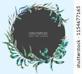 vector template card of green... | Shutterstock .eps vector #1154677165