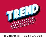 vector of stylized modern font...   Shutterstock .eps vector #1154677915