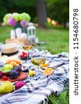 picnic background with white... | Shutterstock . vector #1154680798