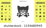 cute cat  paws   logo  symbol ... | Shutterstock .eps vector #1154680945