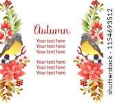 garden vertical border template ... | Shutterstock .eps vector #1154693512