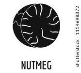 nutmeg icon. simple...   Shutterstock . vector #1154698372