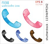 phone watercolor icon set.... | Shutterstock .eps vector #1154699242
