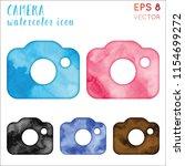 camera watercolor icon set.... | Shutterstock .eps vector #1154699272