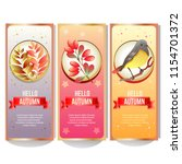 autumn banner collection with... | Shutterstock .eps vector #1154701372
