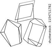 vector diamond rock jewelry...   Shutterstock .eps vector #1154711782
