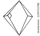 vector diamond rock jewelry...   Shutterstock .eps vector #1154711788
